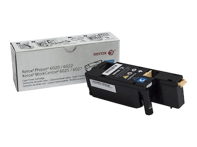 Xerox Cyan Toner Cartridge for Phaser 6022 & WorkCentre 6027, 106R02756, 18441883, Toner and Imaging Components - OEM