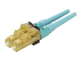 Panduit LC OM3 OM4 50 125 Multimode Fiber Connector, Aqua, FLCDMCXAQY, 34088602, Cable Accessories