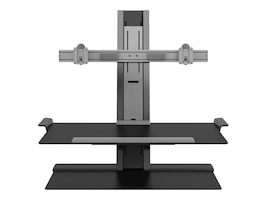 Humanscale QuickStand with Dual Display Support, Wide 27 Crossbar, Sit-Stand Workstation, QSBW30FVN, 33889029, Stands & Mounts - AV