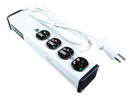 C2G Wiremold 4-Outlet Plug-In Center Unit 120V 15A Medical Grade Power Strip 15ft, White, 16306, 26834071, Power Strips