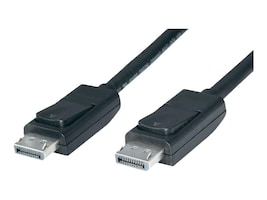 4Xem DisplayPort M M Cable, Black, 6ft, 4XDPDPCBL, 16905031, Cables