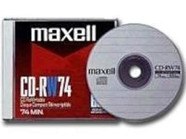 Maxell 4x 700MB CD-RW Media (10-pack Slim Jewel Cases), 630011, 6353860, CD Media