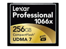 Lexar 256GB Professional 1066x CompactFlash Memory Card, LCF256CRBNA1066, 27568085, Memory - Flash