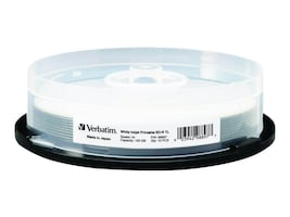Verbatim 4x 100GB BDR XL White Inkjet Printable Media (10-pack), 98897, 18149778, Blu-Ray Media