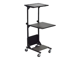 Balt PBL Adjustable AV Cart with 3 Shelves, Black, 81052, 30592502, Computer Carts
