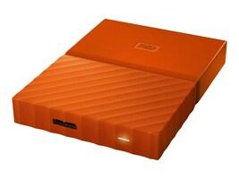 WD 4TB My Passport Portable, Orange, WDBYFT0040BOR-WESN, 32484871, Hard Drives - External