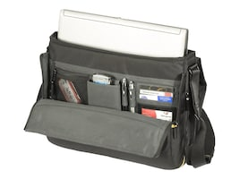 Targus Meridian Messenger Notebook Carry Case Poly, Black (Dell Only), TSM091US, 30814890, Carrying Cases - Notebook