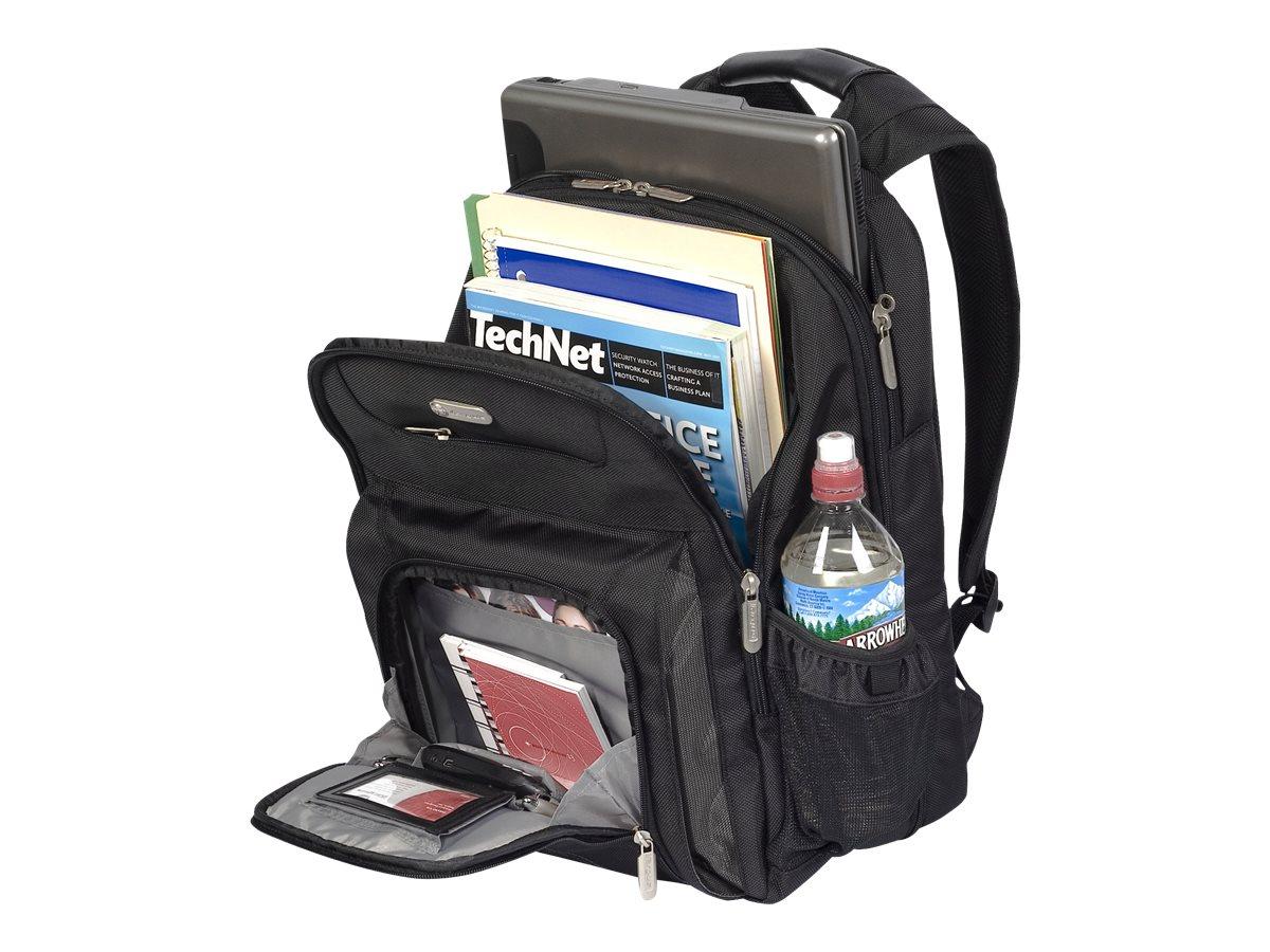Targus Zip-Thru Air Traveler Backpack, Black, TBB012US, 9321409, Carrying Cases - Notebook