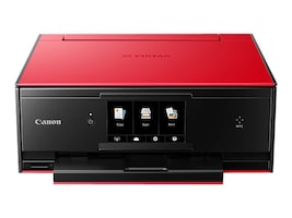 Canon PIXMA TS9020 Wireless All-in-One Inkjet Printer - Red, 1371C022, 33535968, MultiFunction - Ink-Jet