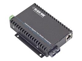 Black Box Industrial GbE PoE Media Converter MM, SC, 550-M, LGC5301A, 33007081, PoE Accessories