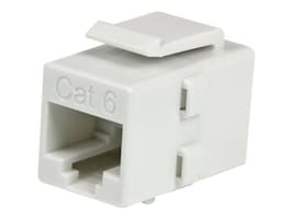 StarTech.com Cat 6 RJ45 Keystone Jack Network Coupler - F F, White, C6KEYCOUPLWH, 16994628, Cable Accessories