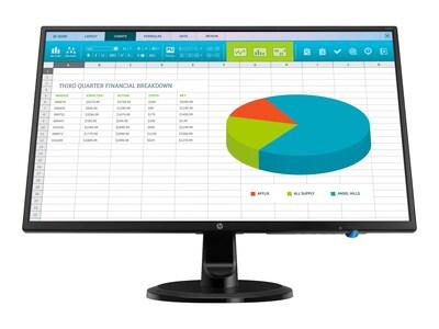 HP 23.8 N246V Full HD LED-LCD Monitor, Black, 1RM28A6#ABA, 35248997, Monitors