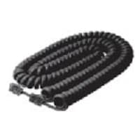 APC Handset Cord, Black, 15ft, 5-Pack, 302-015BK-5, 16885181, Cables