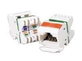 Siemon MAX 6 Flat Module, T568A B Wiring, Rear Strain Relief Cap, Blue, MX6-F06, 6161315, Premise Wiring Equipment