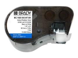 Brady Corp. MC-1500-595-WT-BK Main Image from Front