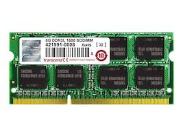 Transcend 8GB PC3-12800 DDR3 SDRAM SODIMM, TS1GSK64W6H, 23207910, Memory
