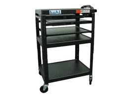 Buhl AV Height Adjustable AV Media Cart & 2 Pull-Out Shelves, SIXS4226E-5, 35176487, Furniture - Miscellaneous