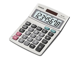 Casio Desktop Calculator with 8-Digit Display, Tax, Currency, Profit, Margin, MS-80S-S-IH, 11737155, Calculators