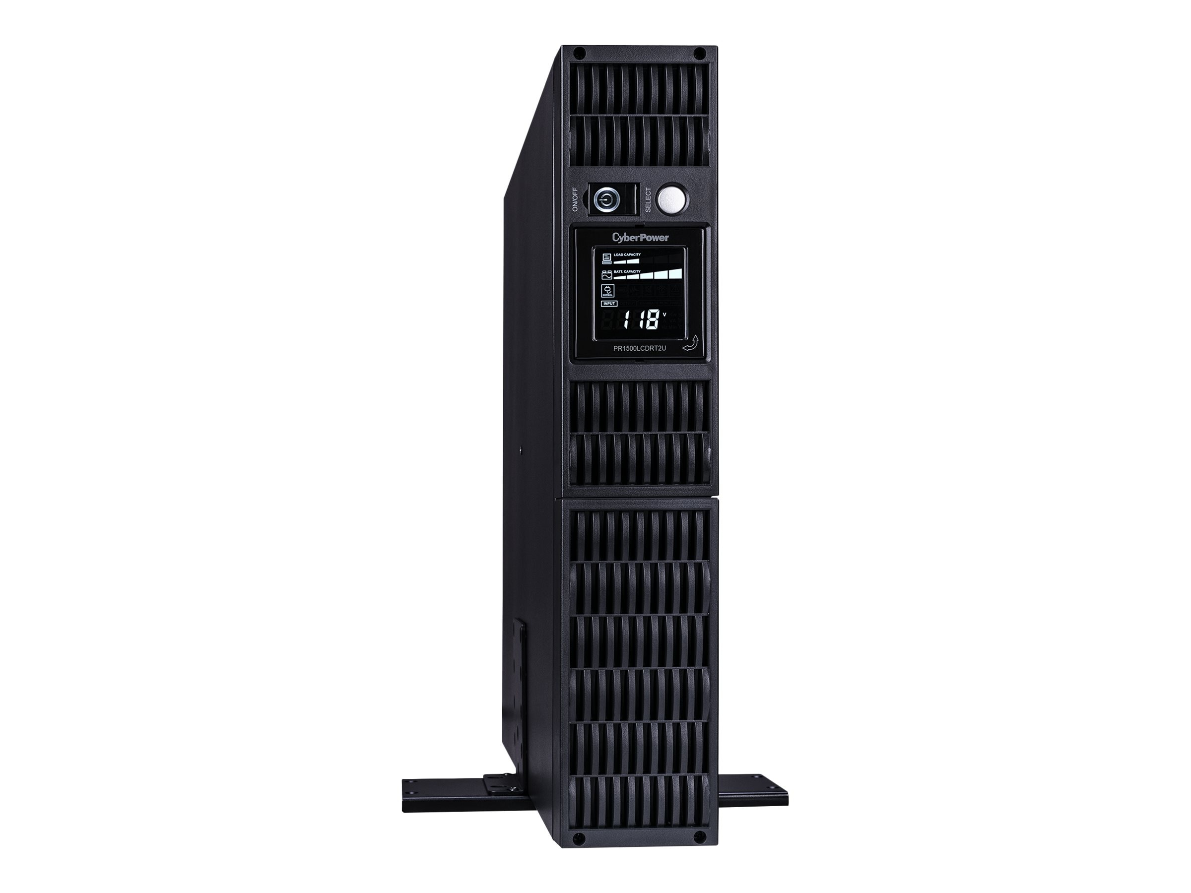 CyberPower 1500VA 1000W Smart App Sinewave LCD UPS 2U RM Tower AVR, PR1500LCDRT2U, 8875178, Battery Backup/UPS