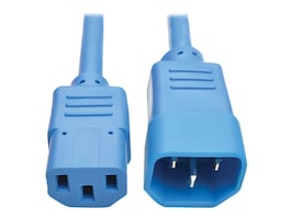 Tripp Lite Standard Computer Power Extension Cord, 10A, 18AWG IEC-320-C14 to IEC-320-C13, Blue, 6ft, P004-006-ABL, 32985828, Power Cords