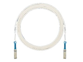Panduit SFP+ 10Gig Direct Attach Passive Copper Cable, White, 2.5m, PSF1PXA2.5MWH, 16677147, Cables