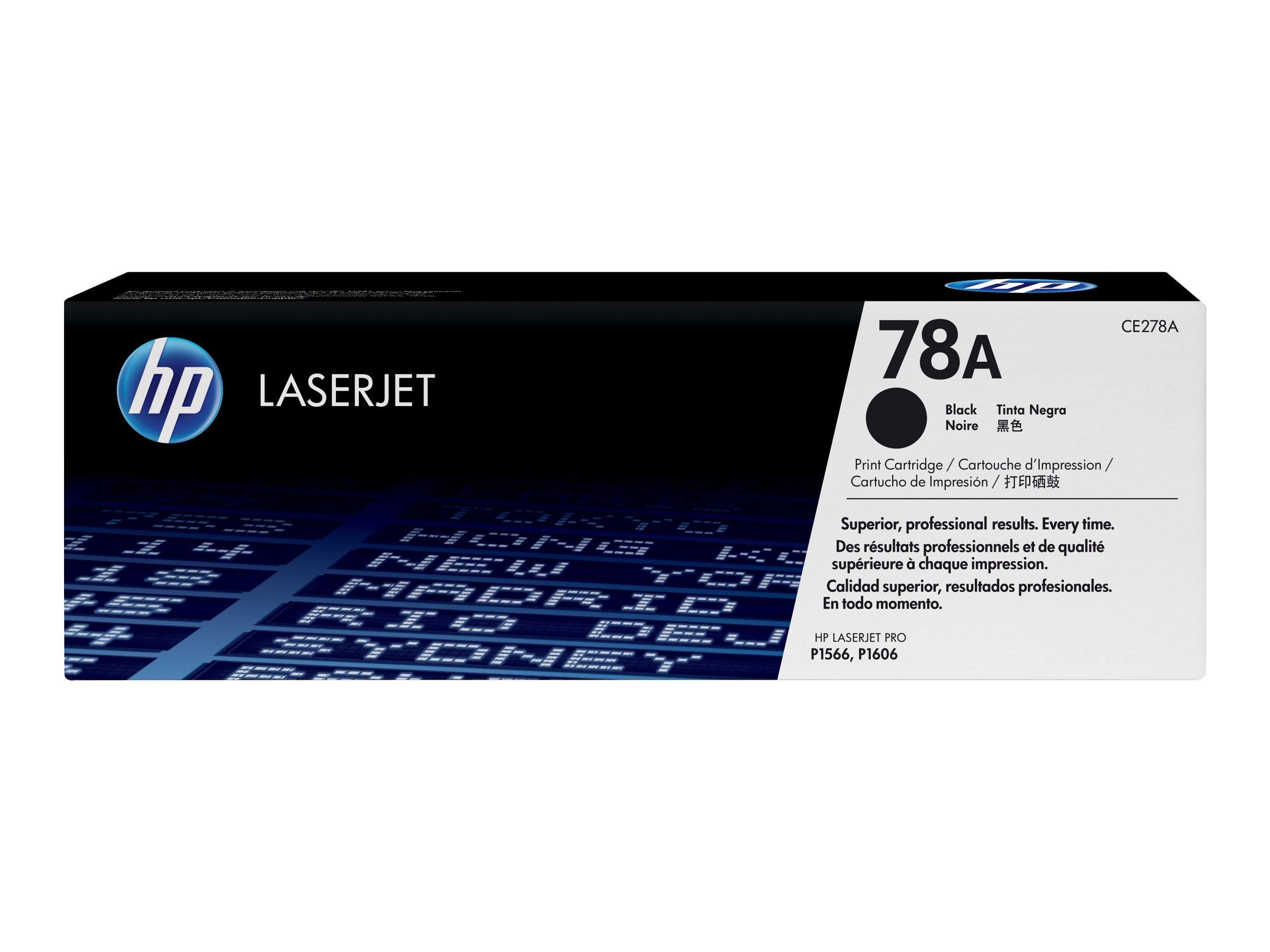 HP 78A (CE278A) Black Original LaserJet Toner Cartridge for HP LaserJet Pro M1536dnf & P1606dn, CE278A, 10983080, Toner and Imaging Components
