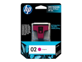 HP 02 (C8772WN) Magenta Original Ink Cartridge, C8772WN#140, 7333220, Ink Cartridges & Ink Refill Kits - OEM