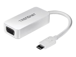 TRENDnet USB Type C (USB-C) to VGA HDTV M F Adapter, White, TUC-VGA, 31620165, Adapters & Port Converters