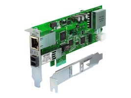 Transition 1-Port GbE RJ-45 PoE+ PCIe NIC w 1000Base-X Open SFP Port, N-GXE-POE-SFP-01, 31146651, Network Adapters & NICs