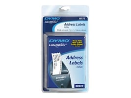 DYMO White Address Labels Blister Pack - 1-1 8 x 3-1 2 (260 Per Roll), 30572, 463965, Paper, Labels & Other Print Media