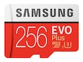 Samsung 256GB MicroSDXC EVO Plus Memory Card with SD Adapter (2017 model), Class 10, MB-MC256GA/AM, 34264119, Memory - Flash