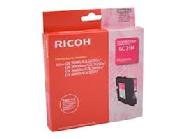 Ricoh Magenta Print Cartridge for Aficio GX3000, 3050N & 5050N Printers, 405534, 7452827, Ink Cartridges & Ink Refill Kits