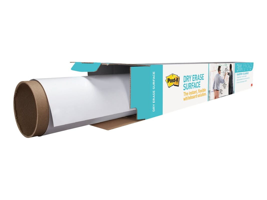 3M Post-It Dry Erase Whiteboard Surface Paper, 8' x 4' Roll