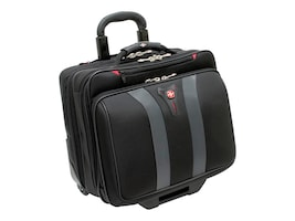Wenger SwissGear Granada Rolling Case for 17 Laptop, Black & Gray, GA-7011-14F00, 33975883, Carrying Cases - Notebook