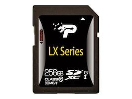Patriot Memory 256GB UHS-I SDXC Flash Memory Card, Class 10, PSF256GSDXC10, 18404100, Memory - Flash