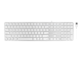 Macally ALUMINUM SLIM USB MAC KEYBOARD ACCSWITH 2PORT USB, MLUXKEYA, 37492150, Keyboards & Keypads