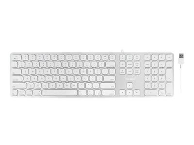 Macally ALUMINUM SLIM USB MAC KEYBOARD ACCSWITH 2PORT USB, MLUXKEYA, 37492150, Keyboards & Keypads