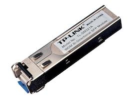 TP-LINK 1000Base-BX WDM Bi-Directional SFP Module, LC Connector, TX:1550nm RX:1310nm, Single-Mode, 10km, TL-SM321A, 13544082, Network Transceivers