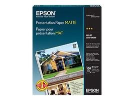 Epson 8.5 x 11 Presentation Paper Matte (100 Sheets), S041062, 25066, Paper, Labels & Other Print Media