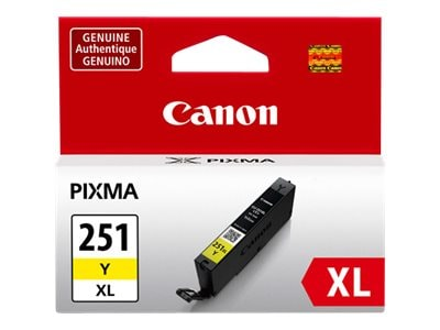 Canon Yellow CLI-251Y XL Ink Tank, 6451B001, 15187197, Ink Cartridges & Ink Refill Kits - OEM