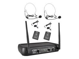 Pyle VHF Fixed Frequency Wireless Mic System, PDWM2145, 31478111, Microphones & Accessories