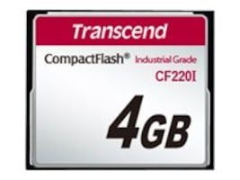 Transcend 4GB CF220I CompactFlash Memory Card, TS4GCF220I, 31432851, Memory - Flash