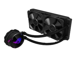 Asus All-in-one liquid CPU cooler with Aura Sync RGB, and dual ROG 120mm radiator fans, ROG STRIX LC 240, 37068869, Cooling Systems/Fans