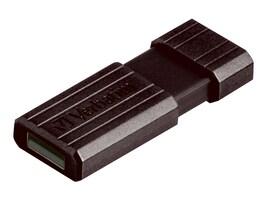 Verbatim 128GB Pinstripe USB Flash Drive, Black, 49071, 15662023, Flash Drives