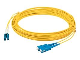 AddOn LC-LC 9 125 OS1 Singlemode Duplex Fiber Cable, Yellow, 3m, ADD-ALC-SC-3M9SMF, 31386321, Cables