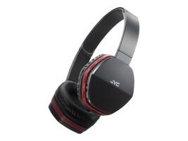 JVC On Ear Bluetooth Swivel 30mm Wireless Headset - Black w  Red Trim, HASBT5R, 30925830, Headsets (w/ microphone)