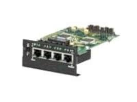 Black Box 4-Port Twisted-Pair Module 10 100Mbps RJ-45 (One with Uplink), LE1425C, 5682151, Network Device Modules & Accessories