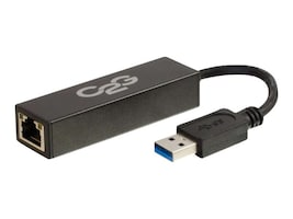 C2G USB 3.0 to Gigabit Ethernet Network Adapter, Black, 39700, 17348759, Adapters & Port Converters