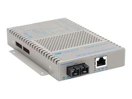Omnitron OC GPoE+ S 1X10 100 1000T-1000X SC MM 850 550M Module 100-240AC, 9422-0-11W, 12350315, Network Transceivers