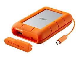 Lacie 4TB Rugged RAID Thunderbolt USB 3.0 Professional All-Terrain Storage, LAC9000601, 29487991, Hard Drives - External